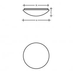 Charon PMMA stropní nákres
