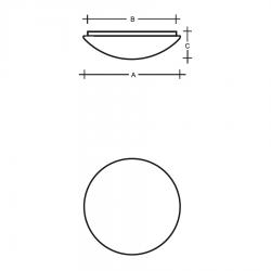 Charon IP44 stropní nákres