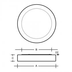 Zero II stropní nákres