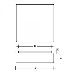 Cube I stropní nákres